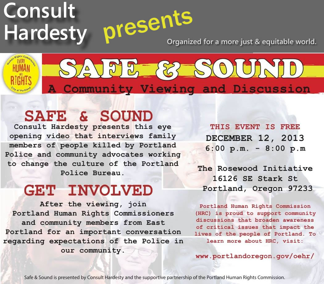 Announcement of public discussion following film 'Safe & Sound?'