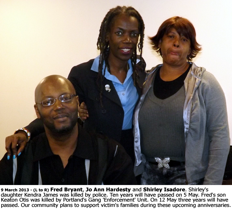 Image of Fred Bryant, Jo Ann Hardesty and Shirley Isadore.