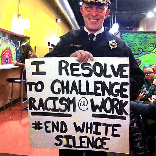 I resolve to challenge racism @ work #ENDWHITESILENCE