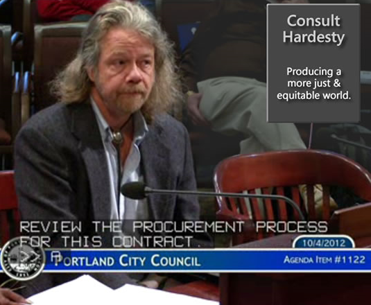 4 October 2012 - Hardesty, co-author of community engagement strategy adopted by the US Department of Justice as remedy to illegal use of force by police, testifies on proposed fixes in final plea deal language. These unadressed shortcomings were used by a subsequent administration to excise a Community Oversight Advisory Board from police reform in the Trump Era.